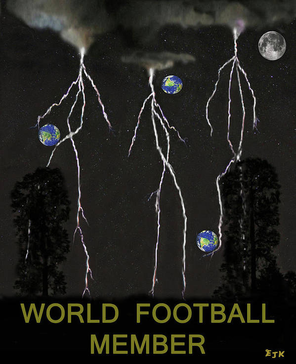 World Football Member Poster featuring the mixed media World Football Member by Eric Kempson