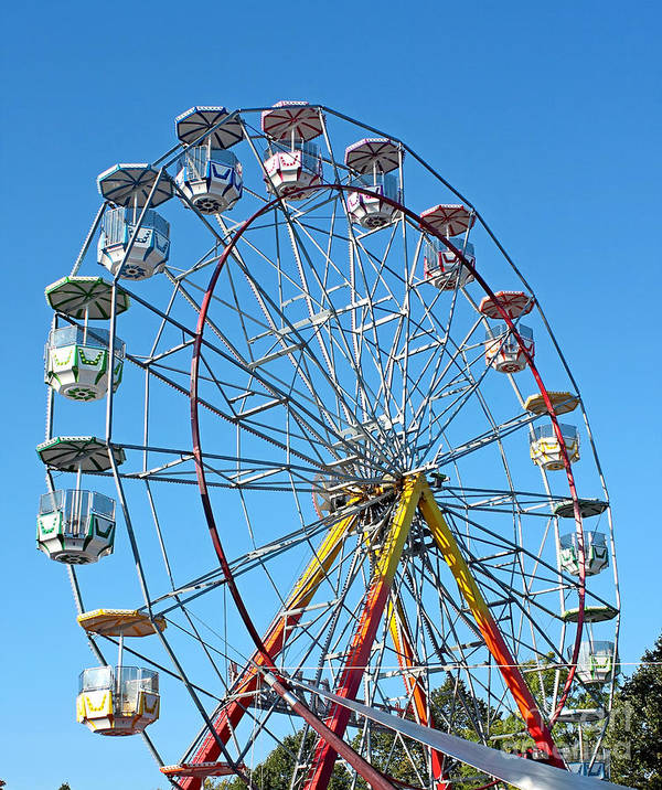 Funfair Poster featuring the photograph World Wheel by Esko Lindell