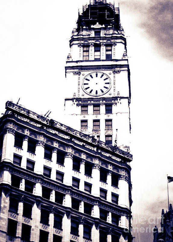 Giralda-inspired Tower Poster featuring the photograph Wrigley Building by Lillian Michi Adams