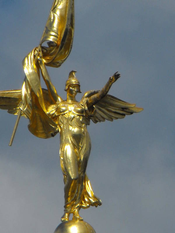 District Of Columbia Poster featuring the photograph Wwi Gold Winged Victory Statue by Ginger Repke