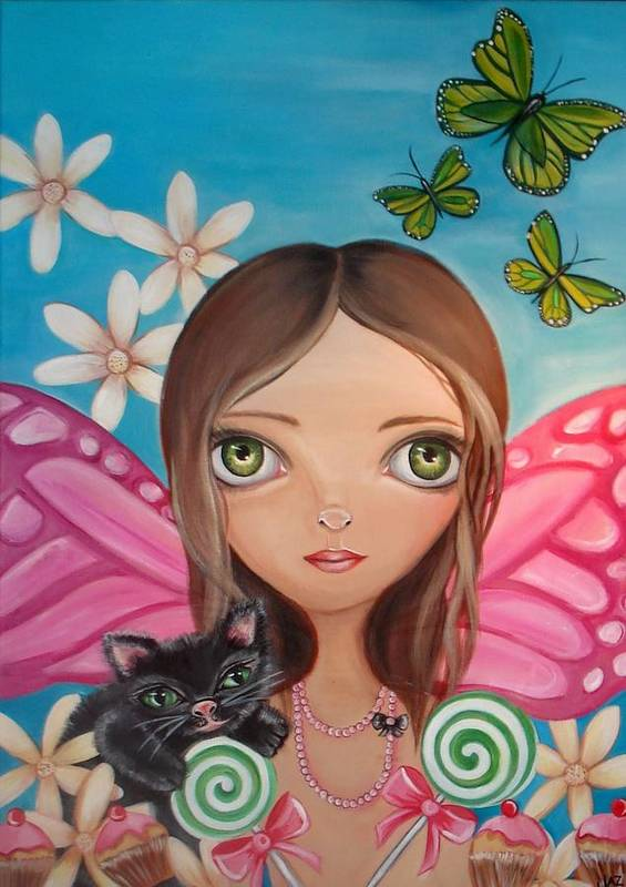 Fairy Poster featuring the painting Xenia Fairy by Jaz Higgins