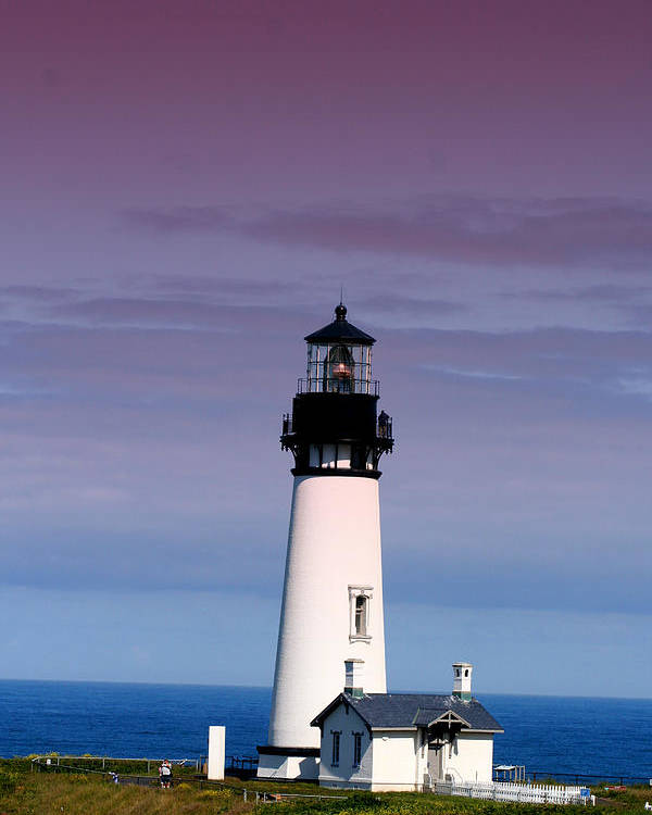 Lighthouse Poster featuring the photograph Yakuina Head Lighthouse Li201 by Mary Gaines