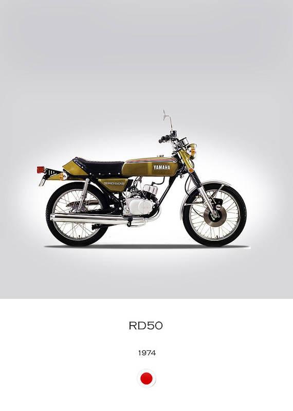 f3cc22ee496 Yamaha Rd50 Poster featuring the photograph Yamaha Rd50 1974 by Mark Rogan
