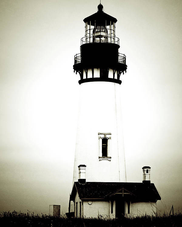 Yaquina Head Lighthouse Poster featuring the photograph Yaquina Head Light - Haunted Oregon Lighthouse by Christine Till