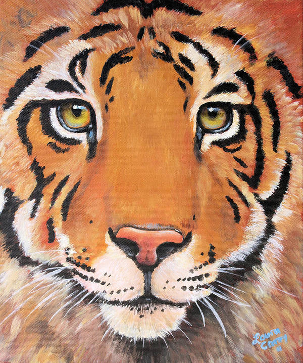 Tiger Poster featuring the painting Year Of The Tiger by Laura Carey