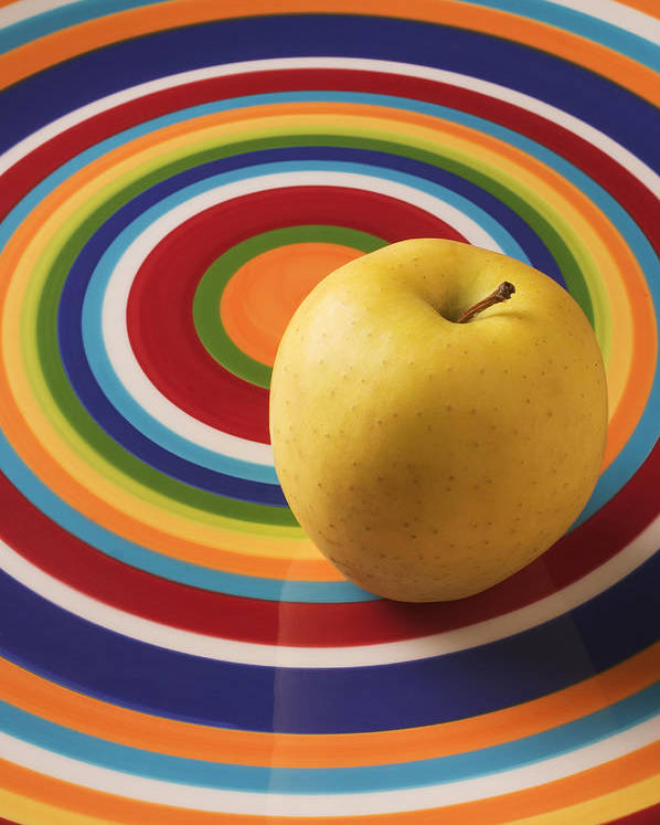 Apple Poster featuring the photograph Yellow Apple by Garry Gay