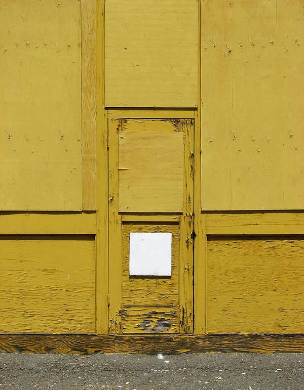 Door Poster featuring the photograph Yellow Door With Accent by Ben Freeman