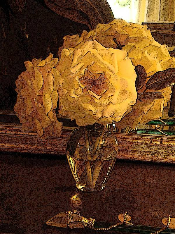 Photograph Poster featuring the photograph Yellow Roses by Susan Grissom