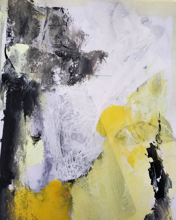 Abstract Poster featuring the painting Yellow Winter by Patricia Byron