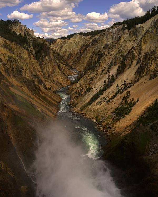 Yellowstone Poster featuring the photograph Yellowstone Grand Canyon by Patrick Flynn