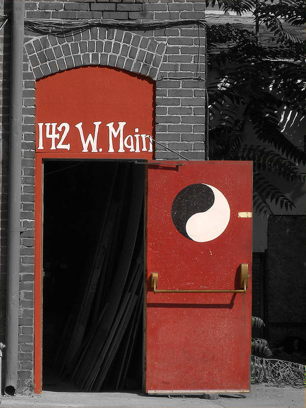 Main Street Poster featuring the photograph Yin And Yang On Main by Tara Schendel
