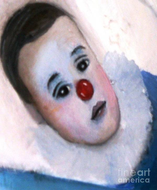 Clown Poster featuring the painting YO by Patricia Velasquez de Mera