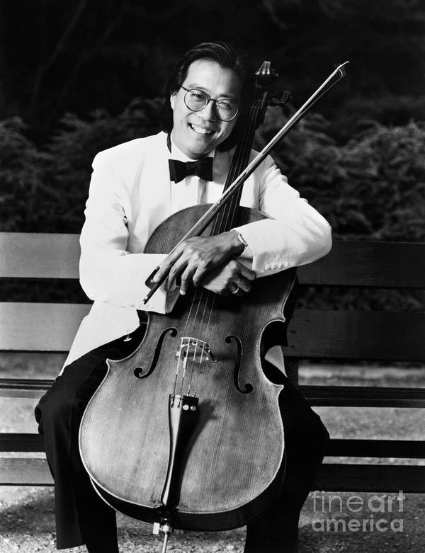 1980s Poster featuring the photograph Yo-yo-ma (1955- ) by Granger