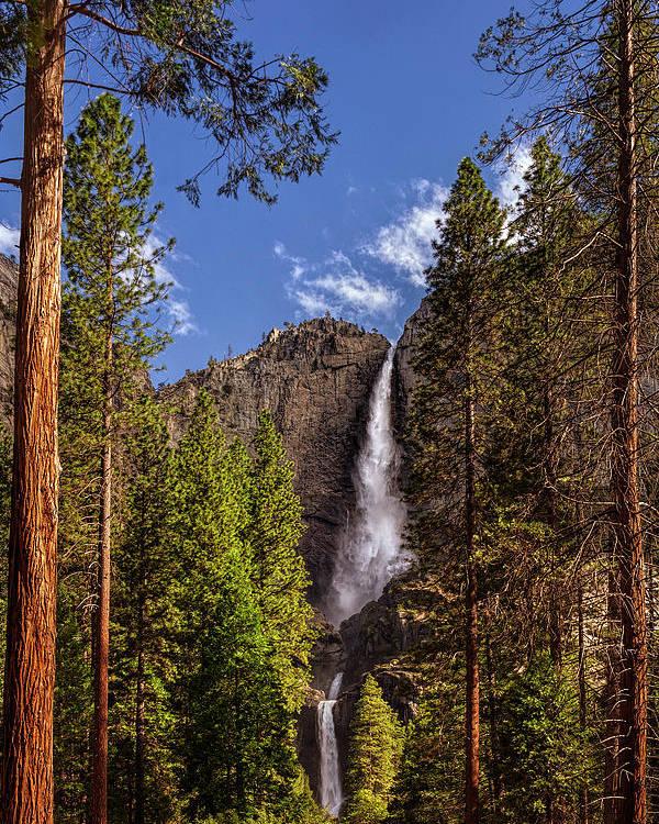 Yosemite Fall Poster: Yosemite Falls Poster By Andrew Soundarajan