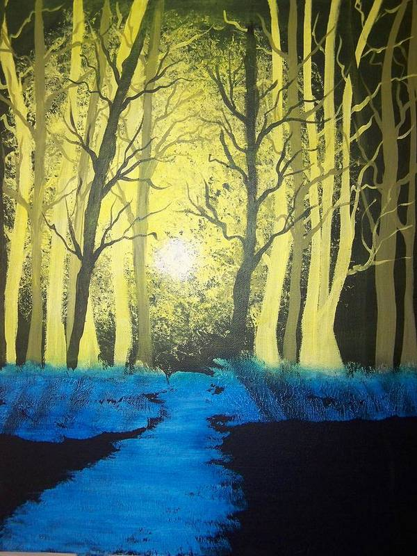 Forest Poster featuring the painting You Cant See The Forest For The Trees by Laurie Kidd