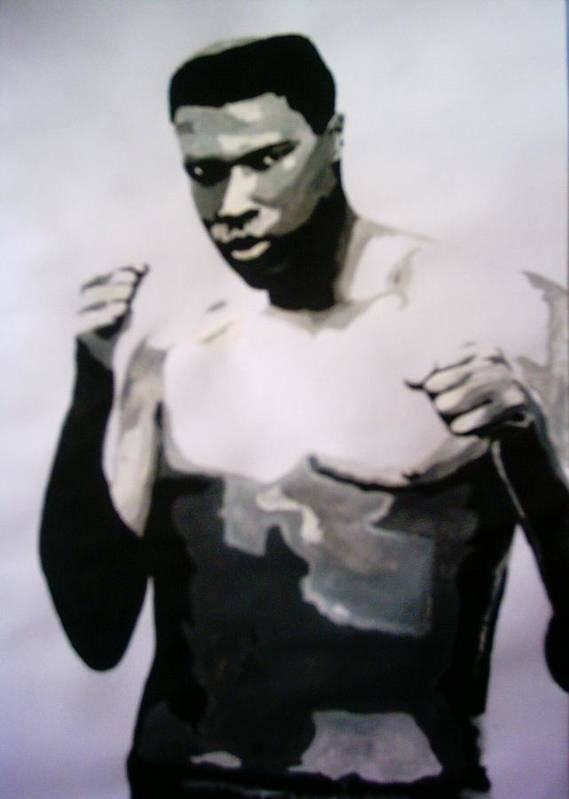 Ali Poster featuring the painting Young Ali by Colin O neill