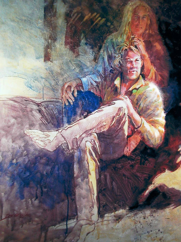 Portrait;watercolor;impressionistic Portrait;portrait; Poster featuring the painting Young Americans by Don Getz