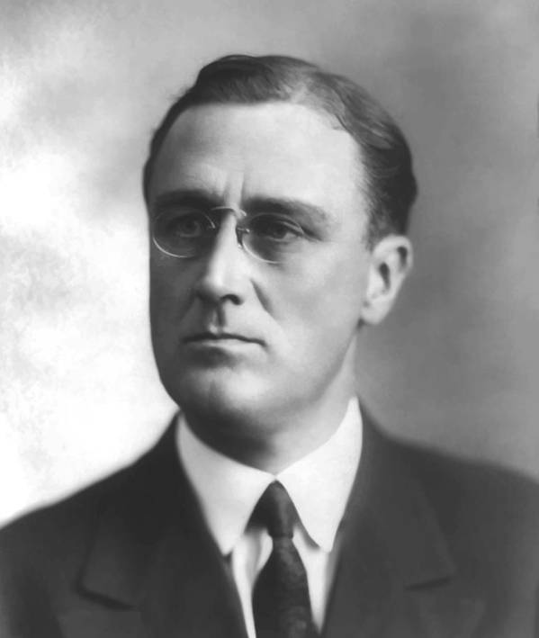 Franklin Roosevelt Poster featuring the painting Young Franklin Delano Roosevelt by War Is Hell Store