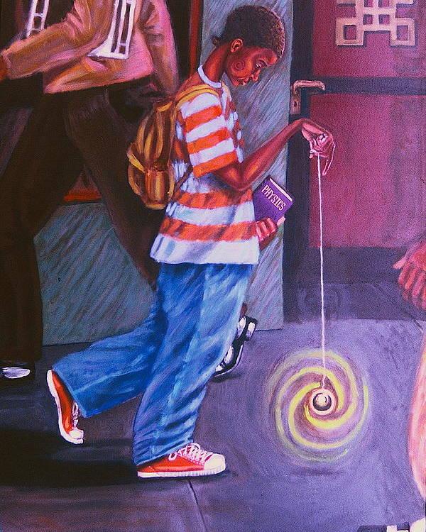 Maliksart Poster featuring the painting Young Life by Malik Seneferu