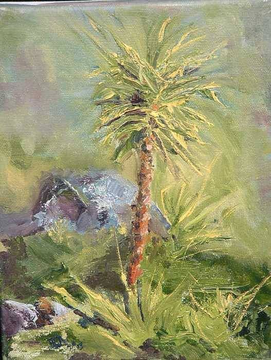 Yucca Poster featuring the painting Yucca by Bryan Alexander