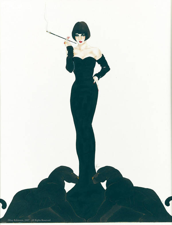 Fashion Poster featuring the print Zelda by Kay Robinson