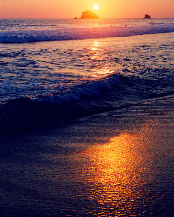 Sunset Poster featuring the photograph Zipolite Sunset In January 2 by Lyle Crump