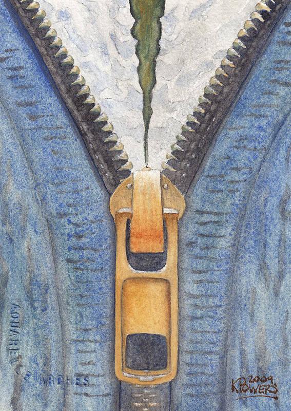 Zipper Poster featuring the painting Zipper by Ken Powers