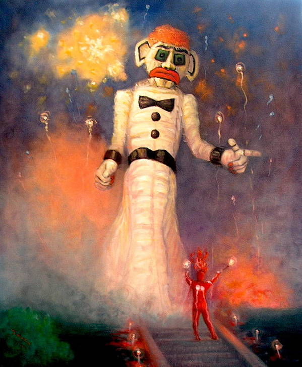 Realism Poster featuring the painting Zo-zobra by Donelli DiMaria