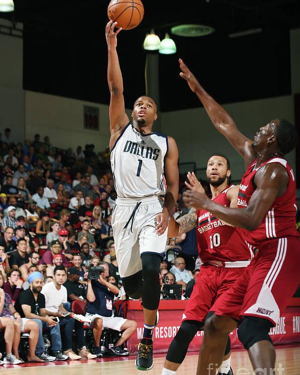 Nba Pro Basketball Poster featuring the photograph 2017 Las Vegas Summer League - Miami by Noah Graham