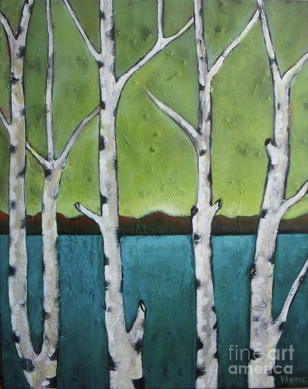 Aspen Poster featuring the photograph Aspen Trees On The Lake by Vesna Antic