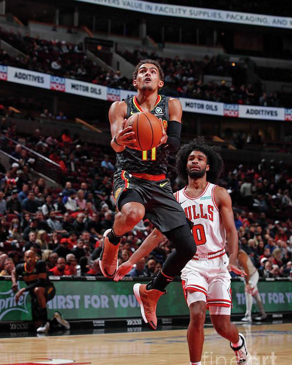Nba Pro Basketball Poster featuring the photograph Atlanta Hawks V Chicago Bulls by Jeff Haynes
