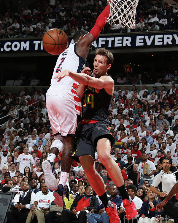 Playoffs Poster featuring the photograph Atlanta Hawks V Washington Wizards - by Stephen Gosling
