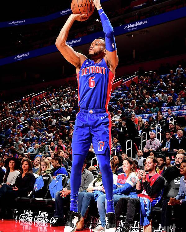 Nba Pro Basketball Poster featuring the photograph Brooklyn Nets V Detroit Pistons by Chris Schwegler