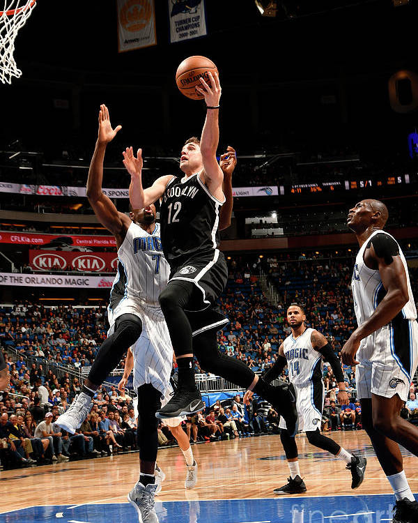 Nba Pro Basketball Poster featuring the photograph Brooklyn Nets V Orlando Magic by Fernando Medina