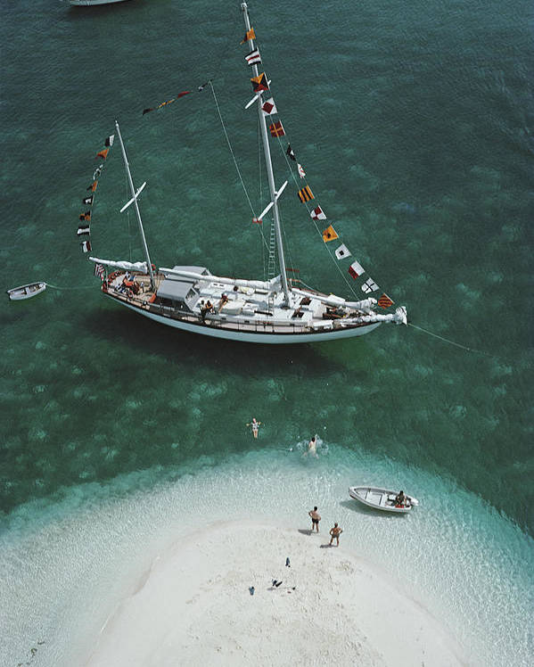 People Poster featuring the photograph Charter Ketch by Slim Aarons