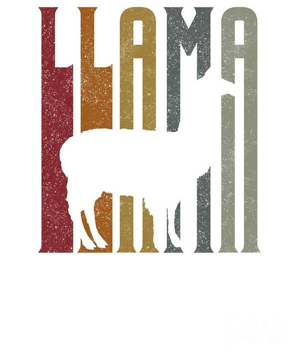 Llama-make-me-happy Poster featuring the digital art Cute Funny Llama Make Me Happy Retro Llamas by The Perfect Presents