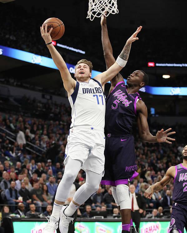 Nba Pro Basketball Poster featuring the photograph Dallas Mavericks V Minnesota by Jordan Johnson
