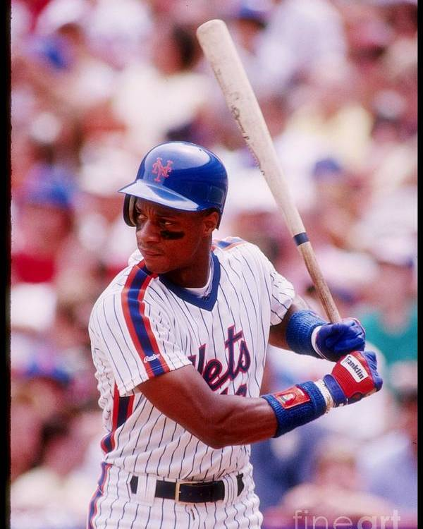 1980-1989 Poster featuring the photograph Darryl Strawberry by Getty Images