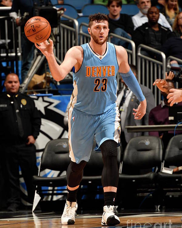Jusuf Nurkić Poster featuring the photograph Denver Nuggets V Orlando Magic by Fernando Medina