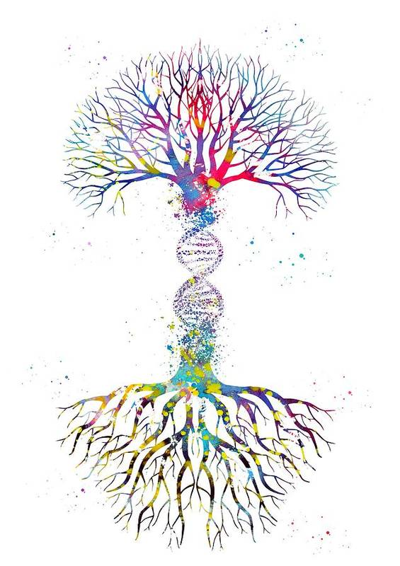 DNA Tree by Erzebet S