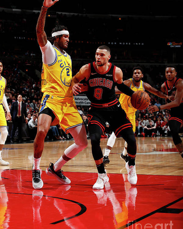 Chicago Bulls Poster featuring the photograph Golden State Warriors V Chicago Bulls by Jeff Haynes