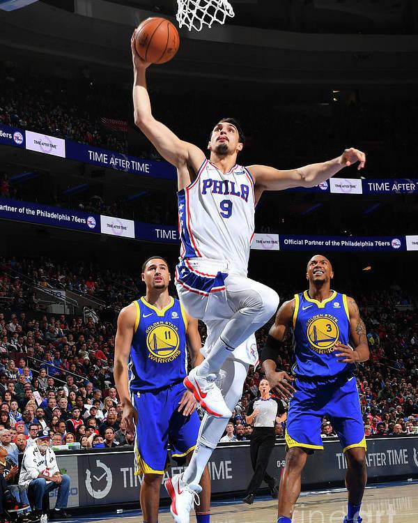 Nba Pro Basketball Poster featuring the photograph Golden State Warriors V Philadelphia by Jesse D. Garrabrant