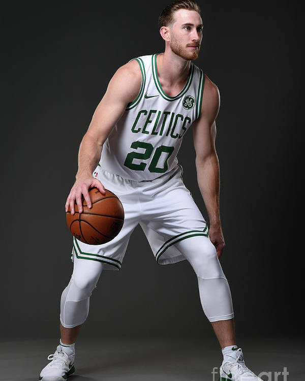 Nba Pro Basketball Poster featuring the photograph Gordon Hayward Boston Celtics Portraits by Brian Babineau