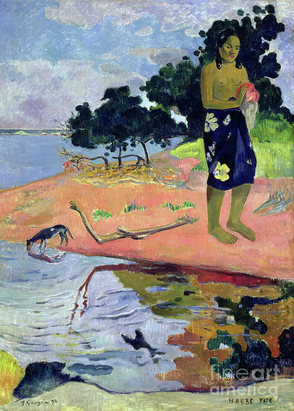 Gauguin Poster featuring the painting Haere Pape, 1892 by Paul Gauguin