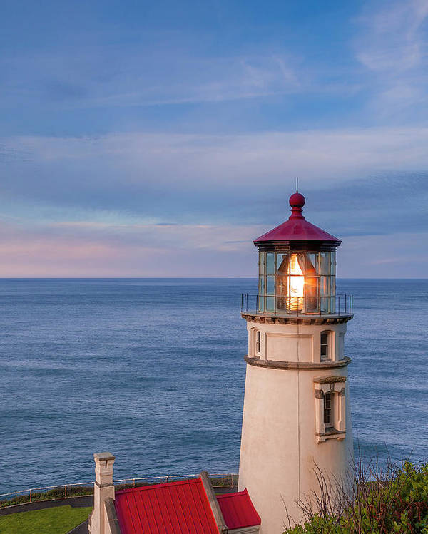 Heceta Poster featuring the photograph Heceta Head Lighthouse by Andrew Soundarajan
