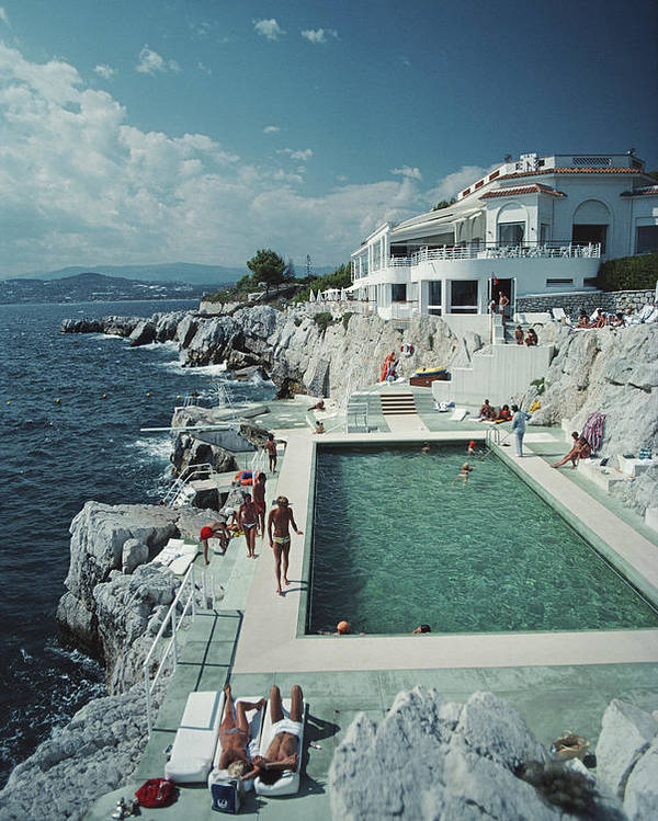 People Poster featuring the photograph Hotel Du Cap Eden-roc by Slim Aarons