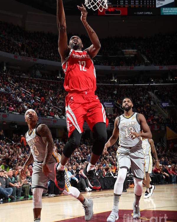Nba Pro Basketball Poster featuring the photograph Houston Rockets V Cleveland Cavaliers by Joe Murphy