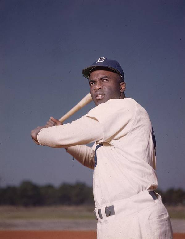 People Poster featuring the photograph Jackie Robinson 1 by Hulton Archive