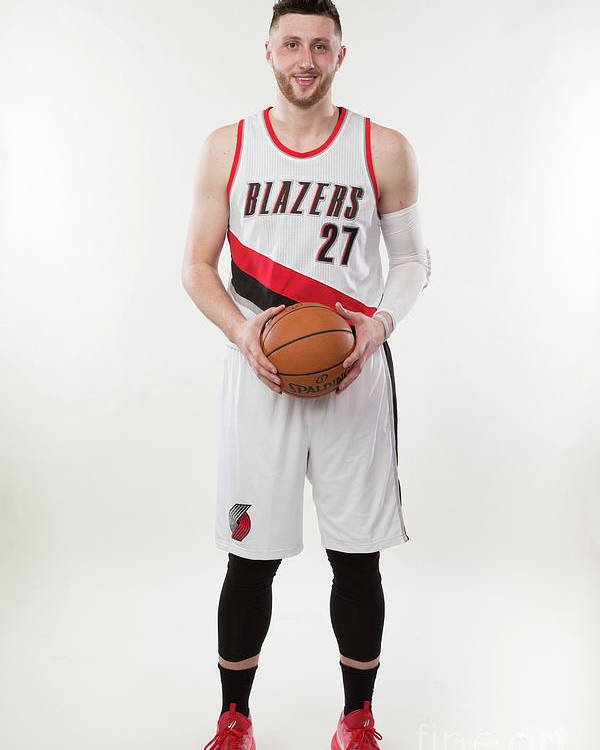 Jusuf Nurkić Poster featuring the photograph Jusuf Nurkic Photo Shoot by Sam Forencich