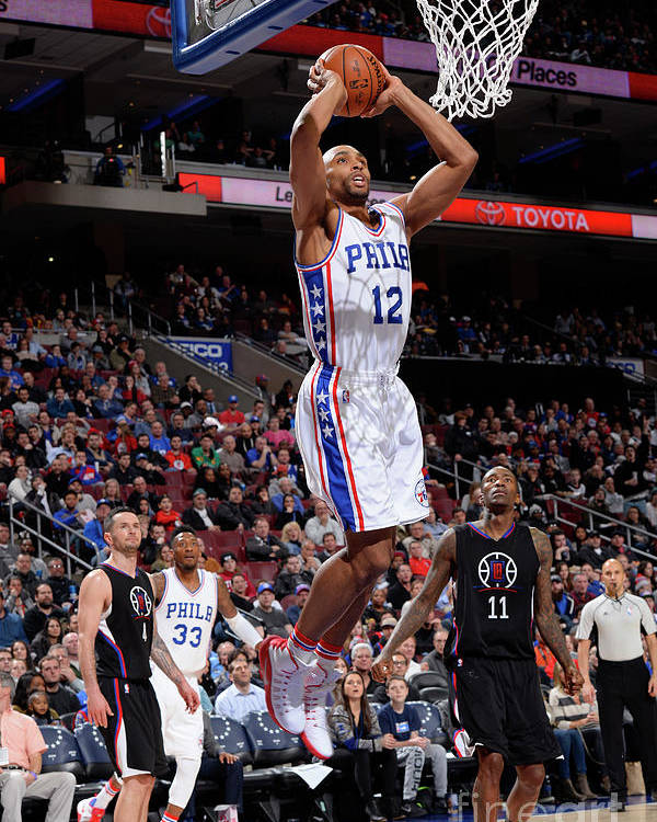 Nba Pro Basketball Poster featuring the photograph La Clippers V Philadelphia 76ers by David Dow